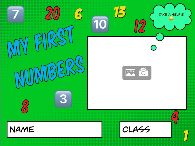 My First Numbers Book Creator Template